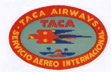 Airline label luggage TACA South America pretty    #067